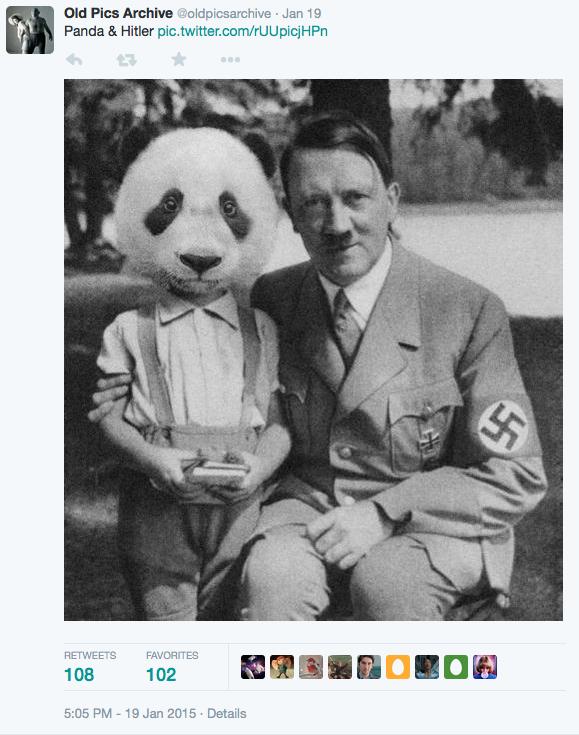 fake Hitler and Panda