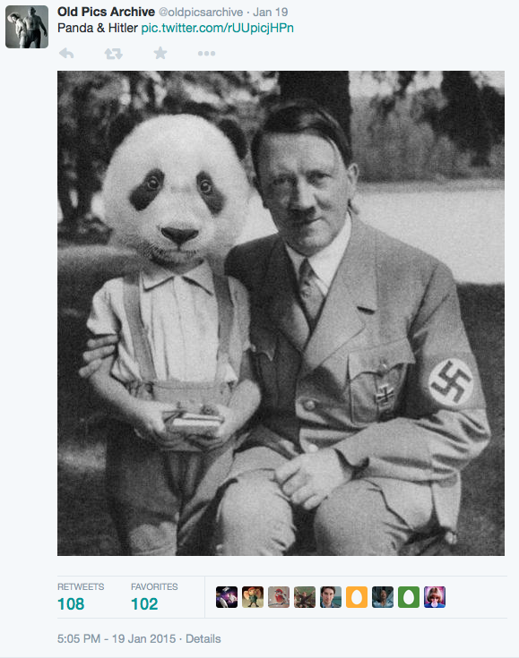 fake Hitler and Panda
