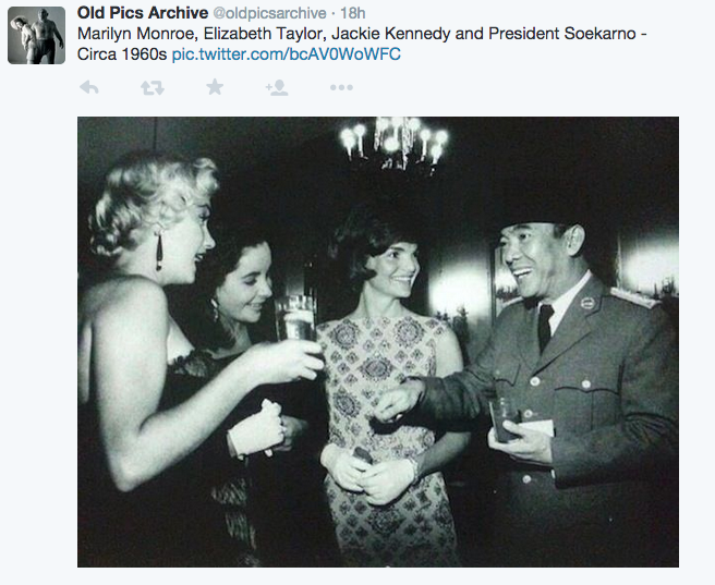 Sukarno with celebrities