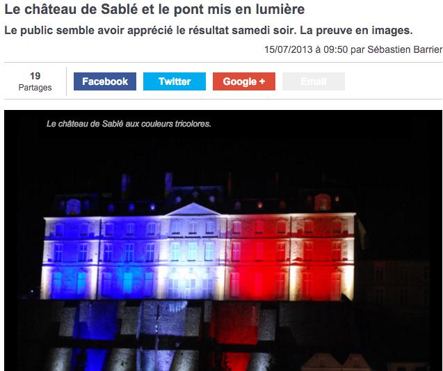 Château de Sable - highlighted