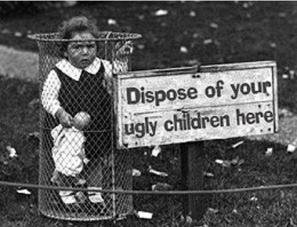 dispose-ugly-children-fake-photo